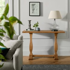 Belgrave Rustic Oak Console Table