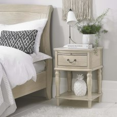 Bordeaux  Chalk Oak 1 Drawer Nightstand