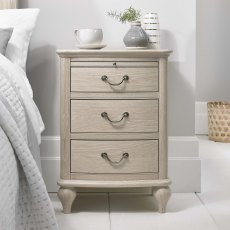 Bordeaux  Chalk Oak 3 Drawer Nightstand