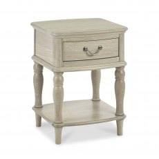 Bordeaux Chalk Oak Lamp Table With Drawer