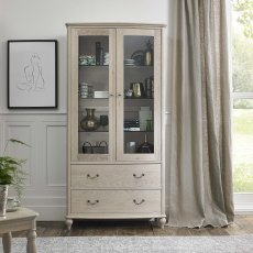 Bordeaux Chalk Oak Display Cabinet