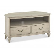 Bordeaux Chalk Oak Corner Tv Unit