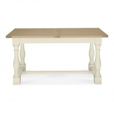 Chartreuse Aged Oak & Antique White 4-6 Extension Table