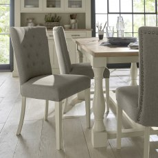 Chartreuse Antique White Uph Chair - Titanium (Pair)
