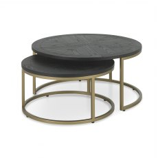 Chevron Peppercorn Ash Coffee Nest Of Tables