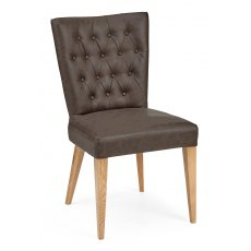 High Park Upholstered Chair - Distressed Bonded Leather (Pair)