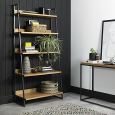 Indus Rustic Oak Open Display Unit