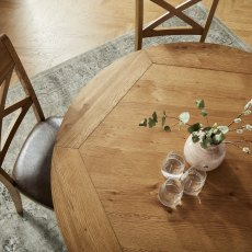 Westbury Rustic Oak Circular Table