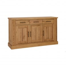 Westbury Rustic Oak 3 Door Sideboard