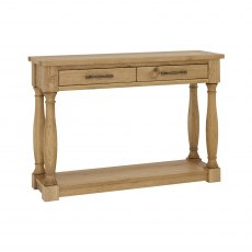 Westbury Rustic Oak Console Table