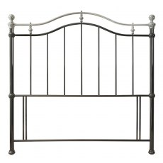 Chloe Black & Shiny Nickel Headboard Double 135cm