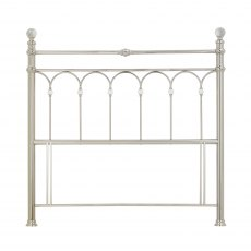 Krystal Shiny Nickel Headboard Double 135cm