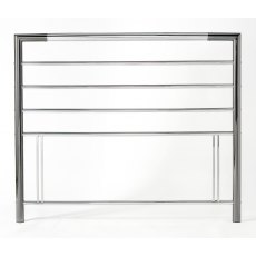 Urban Shiny Nickel & Black Nickel Headboard Small Double 122cm
