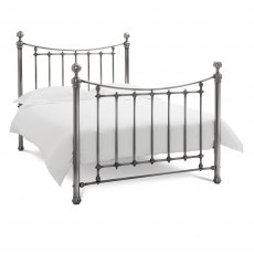 Isabelle Antique Nickel Bedstead Double 135cm