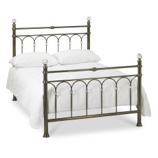 Krystal Antique Brass Bedstead Double 135cm