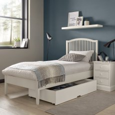 Ashby White Slatted Bedstead Single 90cm
