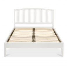 Ashby White Slatted Bedstead Double 135cm