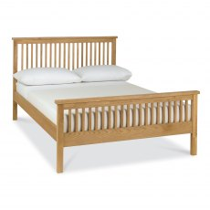 Atlanta Oak High Footend Bedstead Double 135cm