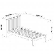 Atlanta Oak Low Footend Bedstead Single 90cm