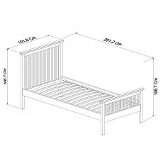 Atlanta Two Tone High Footend Bedstead Single 90cm