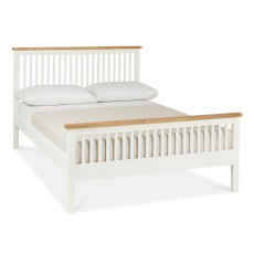 Atlanta Two Tone High Footend Bedstead Double 135cm