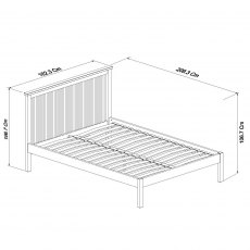 Atlanta Two Tone Low Footend Bedstead King 150cm