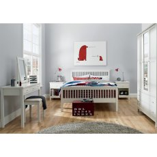 Atlanta White High Footend Bedstead Small Double 122cm