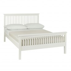 Atlanta White High Footend Bedstead Double 135cm
