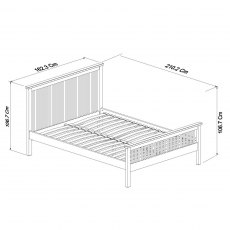 Atlanta White High Footend Bedstead King 150cm