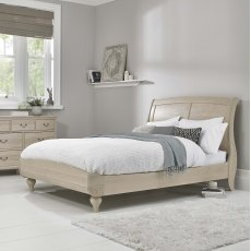Bordeaux Chalk Oak Low Foot End Bedstead King 150cm