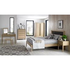 Rimini Aged Oak & Weathered Oak Headboard King 150cm