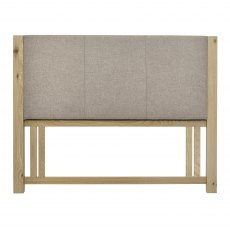Turin Aged Oak Upholstered Headboard King 150cm