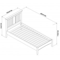 Hampstead White Bedstead Single 90cm