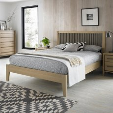 Rimini Aged Oak & Weathered Oak Slatted Bedstead King 150cm