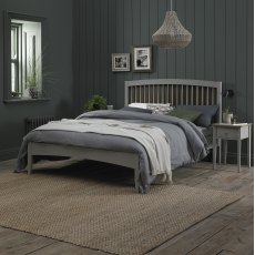 Whitby Scandi Oak & Warm Grey Low Footend Bedstead King Size 150cm