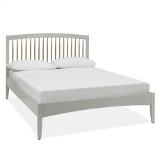 Whitby Scandi Oak & Warm Grey Low Footend Bedstead Double 135cm