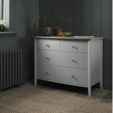 Whitby Scandi Oak & Warm Grey 2+2 Drawer Chest