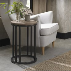 Chevron Weathered Ash Side Table