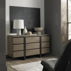 Tivoli Weathered Oak Narrow Sideboard
