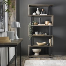 Tivoli Weathered Oak Open Display Unit