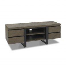 Tivoli Weathered Oak Wide Entertainment Unit