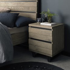 Tivoli Weathered Oak 2 Drawer Nightstand