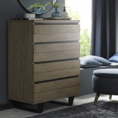 Tivoli Weathered Oak 4 Drawer Chest