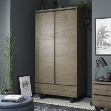Tivoli Weathered Oak Double Wardrobe