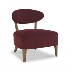 Margot Casual Chair - Crimson Velvet Fabric