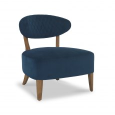 Margot Casual Chair - Dark Blue Velvet Fabric