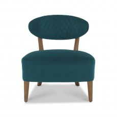 Margot Casual Chair - Sea Green Velvet Fabric