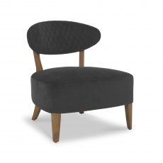 Margot Casual Chair - Gun Metal Velvet Fabric