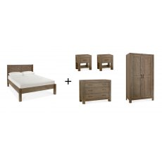 Turin Dark Oak Bedroom Set 'A'