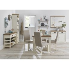 Provence Two Tone Dining Set 'B' - Table & 4 Upholstered Chairs
